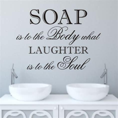 Laughter bathroom wall quote sticker wa098x