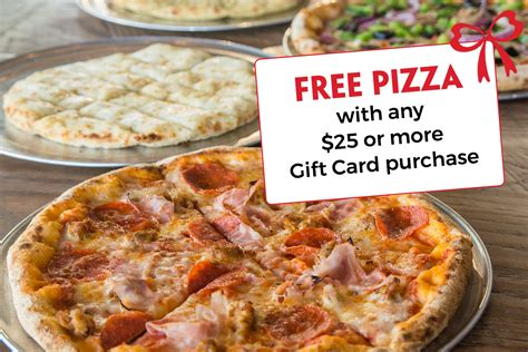 Free Gift Cards With Purchase - free pizza with gift card purchase lotsa stone fired pizza