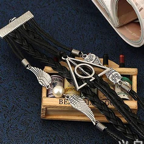 Baguette Fashion Import Velvet Owl wings owl leather charm infinity bracelet braided