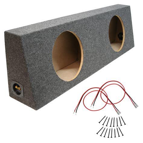 Box Subwoofer 10 Inch car audio dual 10 inch sealed truck reg cab subwoofer enclosure speaker sub box sub wire kit