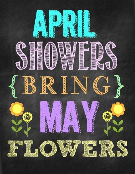April Showers Bring second chance to april showers bring may flowers