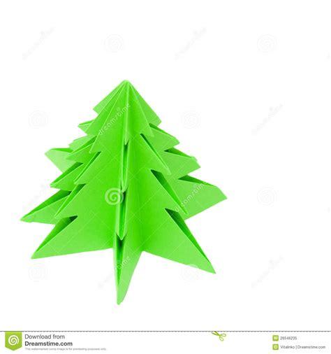 origami weihnachtsbaum lizenzfreies stockfoto bild
