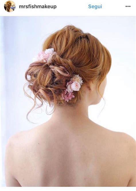 fiori capelli sposa tendenze sposa 2018 acconciature capelli trucco e unghie