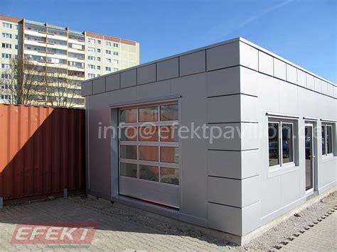 sandwichplatten garage garagen aus sandwichplatten efekt pavillon