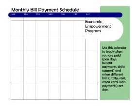 best photos of bill pay template bill payment schedule