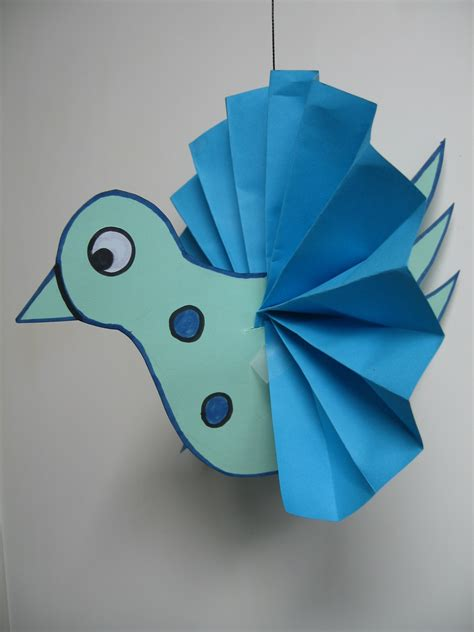 Craft Paper Bird - craft with 3 d bird