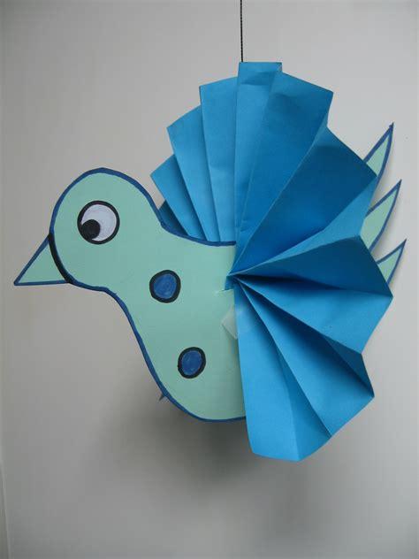 craft paper bird craft with 3 d bird