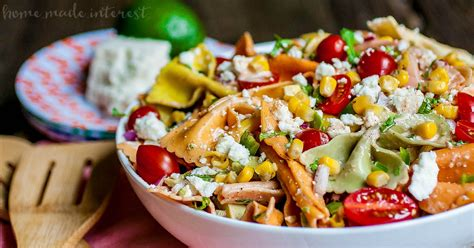 easy mexican pasta salad mexican pasta salad with creamy chipotle lime dressing