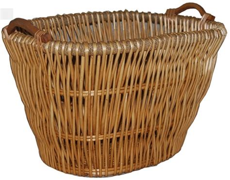Wicker Log Baskets For Fireplaces by Deluxe Indoor Log Holder Fireplace Wicker Log Basket