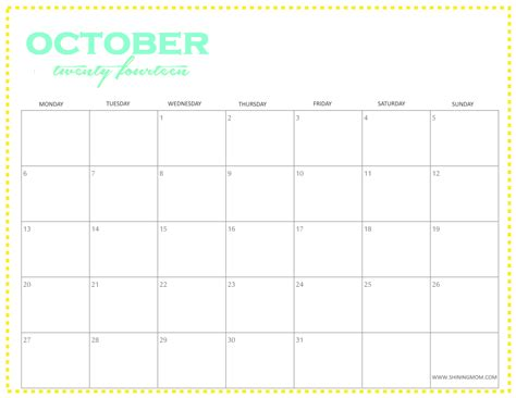 October 2015 Calendar Word Template ? 2017 printable calendar