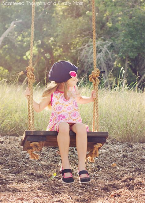 hometalk diy rustic wood  rope tree swing