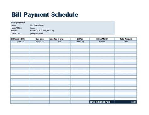 car payment schedule template 33 great payment plan schedule templates template archive