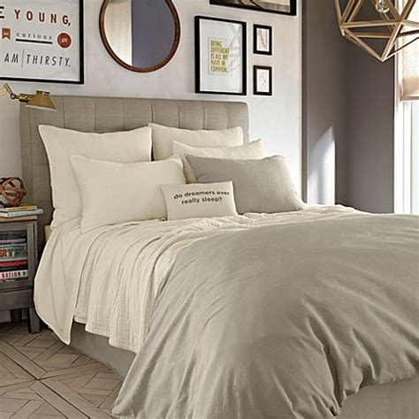 kenneth cole bedding kenneth cole reaction home mineral coverlet in oatmeal bed bath beyond