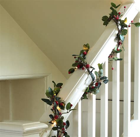 pre lit 6ft red berry christmas garland by ella james