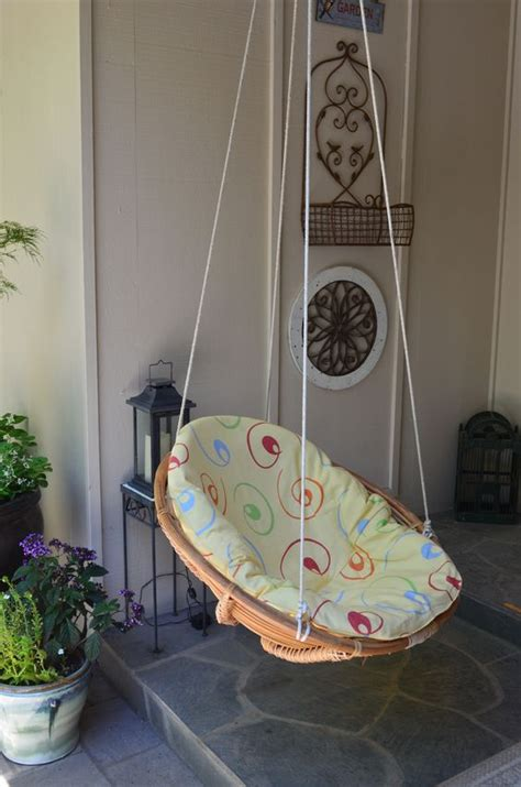 papasan swing chair diy wicker chairs wicker and repurposed on