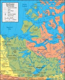 canada territories map northwest territories