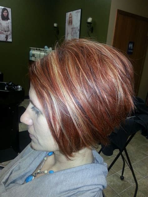 aveda institute dallas reviews hair highlights dark copper hair color with bright blonde and copper