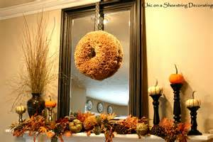 chic on a shoestring decorating budget friendly fall mantel