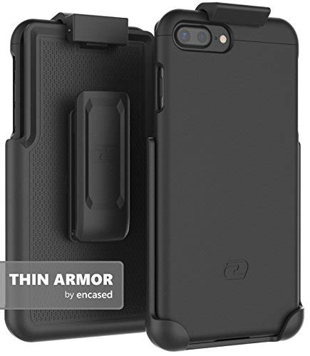 Black Armor Iphone 7 Plus Clip Holster Hybrid Stand iphone 7 plus 5 5 quot belt encased thin armor hybrid shell import it all