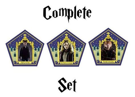 Chocolate Frog Trading Card Template by Chocolate Frog Cards Complete Set Harry Potter