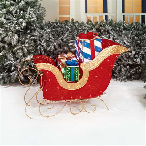 48 quot santa sleigh gift box christmas outdoor light up