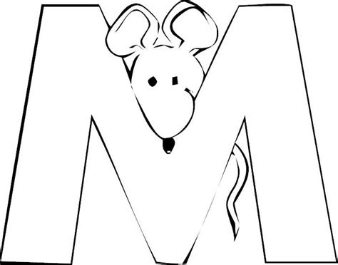 coloring page for letter m letter m coloring pages preschool crafts