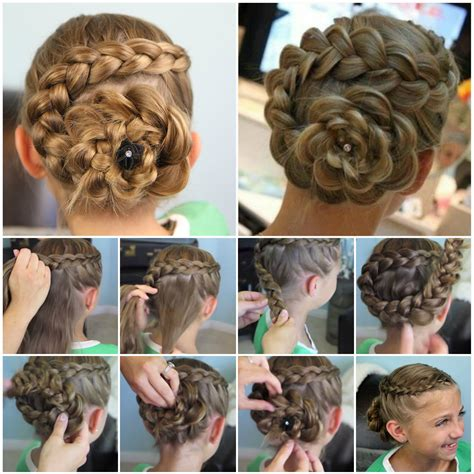 diy races hairstyles amazing flower hairstyles step by step instructions rank