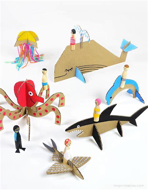 manualidades hechas con carton de animales manualidades recicladas 5 animales de cart 243 n pequeocio
