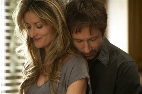 natascha mcelhone portrays karen left and david duchovny