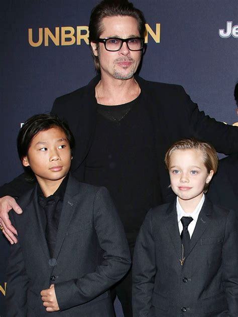 Brad Pitt And Shiloh The Most Beautiful Picture by Pax Shiloh Living With Brad Pitt They Re Asking