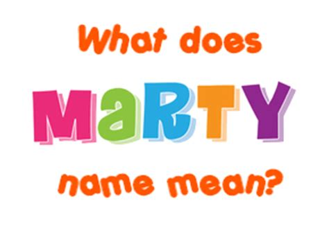 Revo Marty Say My Name marty name meaning of marty