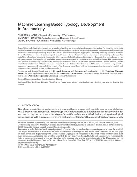 (PDF) Machine learning based typology development in
