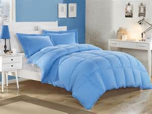blue down alternative comforter set full queen