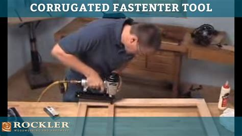corrugated fastener tool  face frame construction youtube