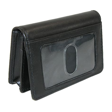 buxton business card holder leather business card holder with id window by buxton