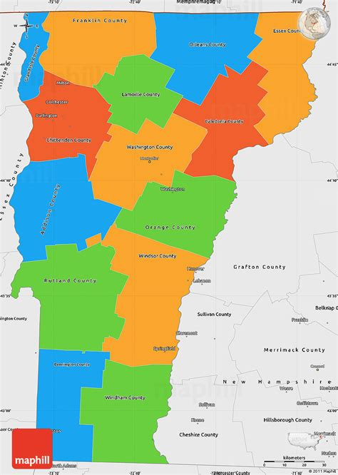 vermont united states map political simple map of vermont single color outside