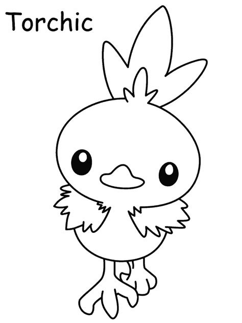 All Pokemon Starters Coloring Pages To Print Coloring Pages Torchic Coloring Pages