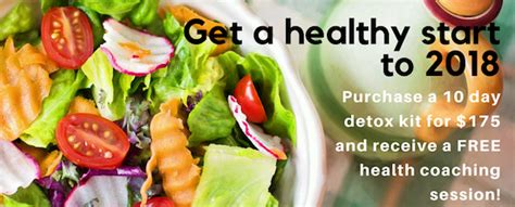 Health Coach Institute Detox Program by Kickstart 2018 With A Detox And Health Coaching Session