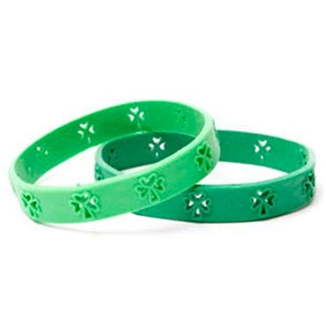 rubber st conventions st s day shamrock green rubber wristband for only