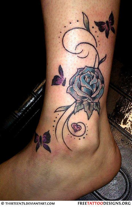 rose vine butterfly tattoo designs for pictures of ankle bracelet
