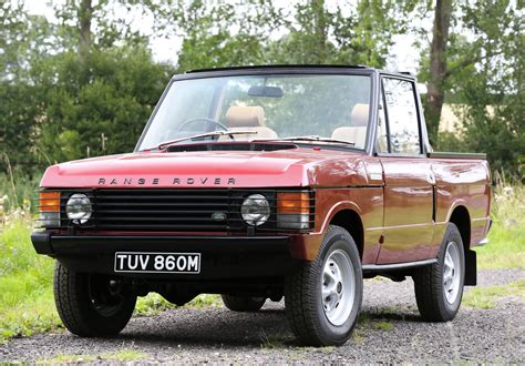 convertible land rover vintage rare 1973 range rover convertible goes to auction