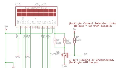 resistor value for lcd backlight arduino uno changing the brightness on a hitachi hd44780 lcd screen arduino stack exchange