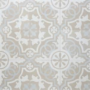 Grey Tile Floor Bathroom - sabine hill cement tile neutral at the beach with kris