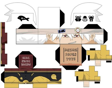 Soul Eater Papercraft - soul eater papertoy by lovekity19 on deviantart