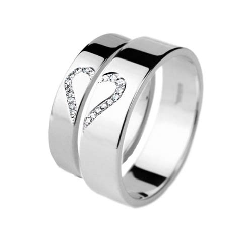 buy wedding rings his and hers white gold set a