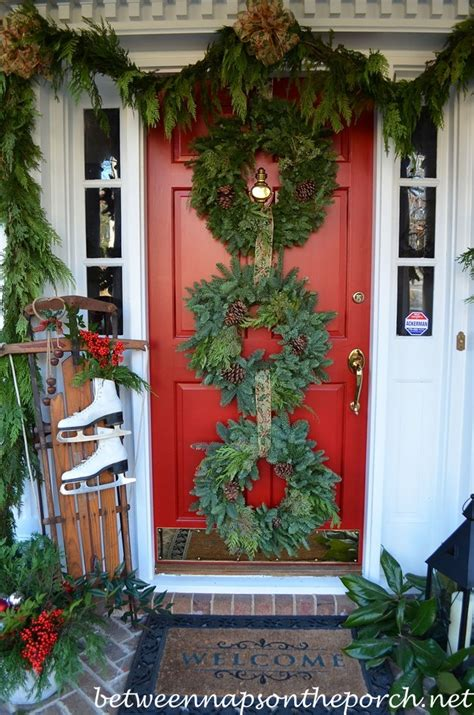 christmas wreath on door learntoride co