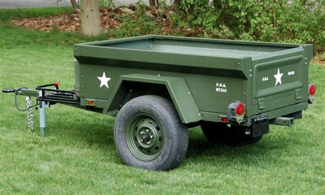 military jeep trailer fiberglass m416 style trailer tubs compact cing concepts