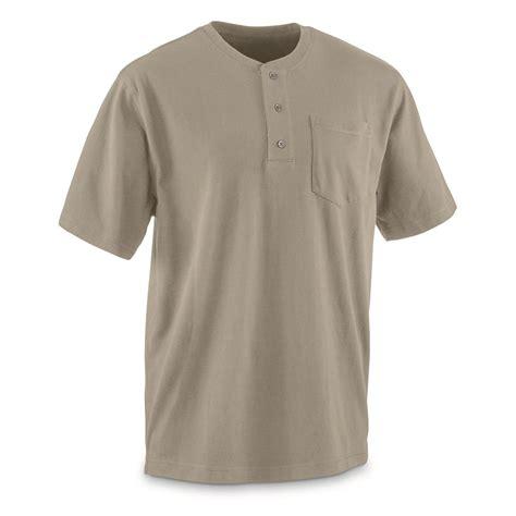 Gear Teflon guide gear s stain kicker henley pocket t shirt with