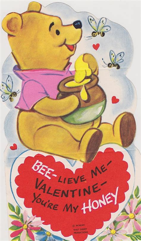 winnie the pooh valentines day 9 vintage disney s day cards