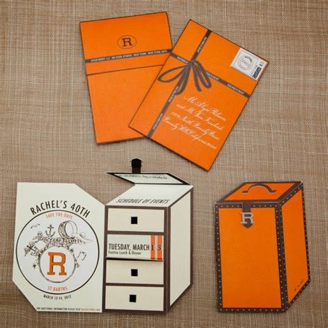 Hermes Birthday Card birthday customized orange travel trunk save the
